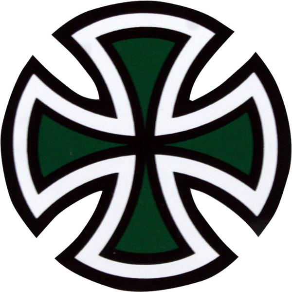 Inde Cut Cross Decal 2""