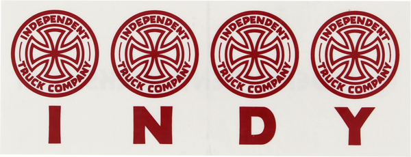 Inde Four Of A Kind Decal 6.5X2.5""