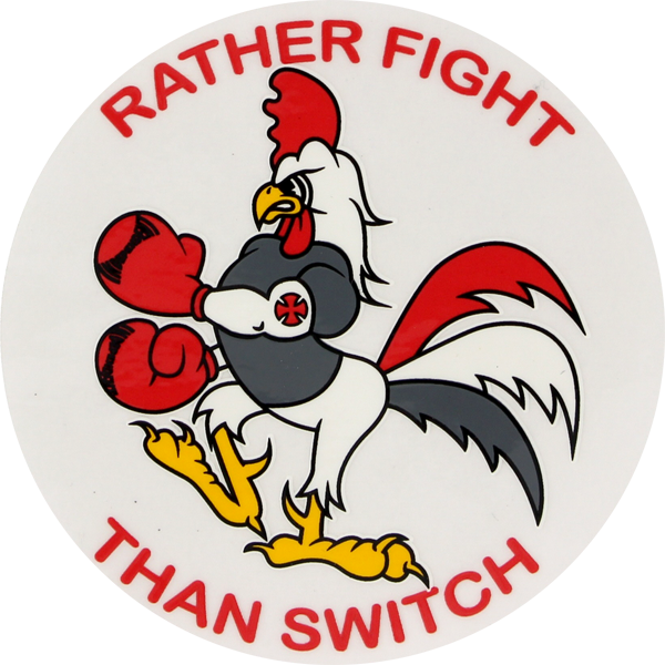 "Inde Rather Fight 4""  Decal Single"