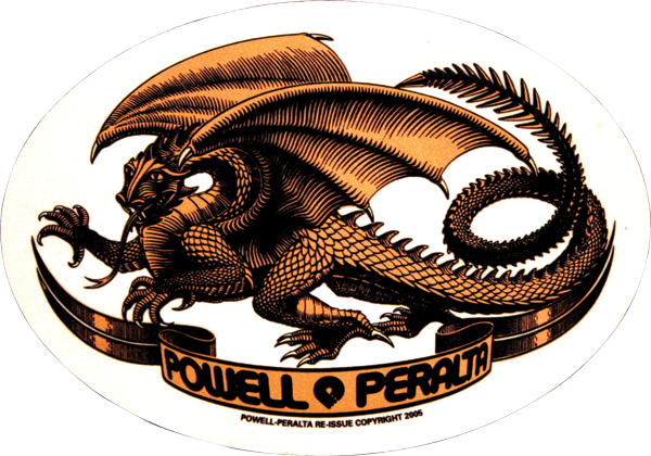 Pwl/P Oval Dragon Decal Single