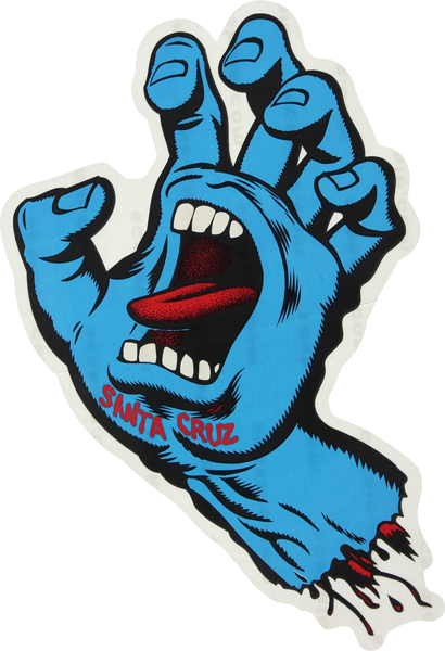 "Sc Screaming Hand 6"" Decal Assorted Colors"