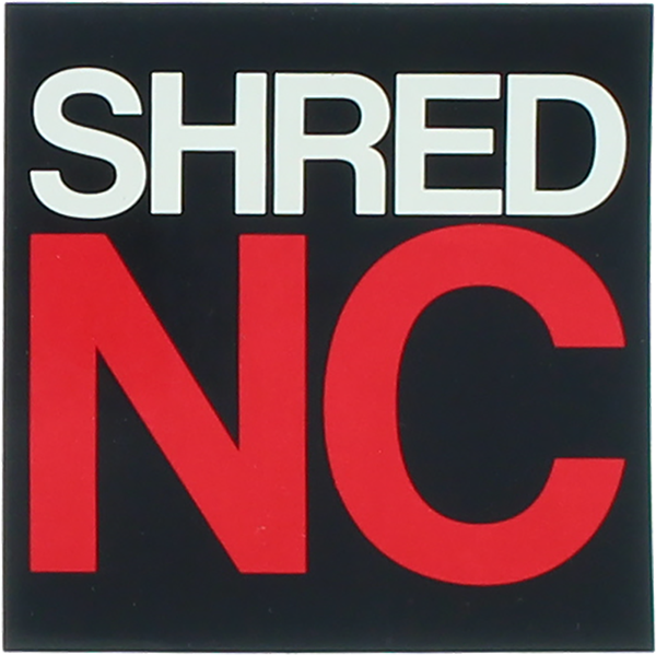 "Shred Stickers Printed Shred Nc Stack 3""Blk/Wht/Rd"