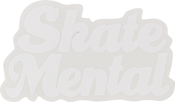Skate Mental Script Decal White Single