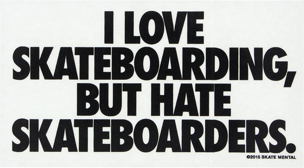 Skate Mental Love Hate Decal Single