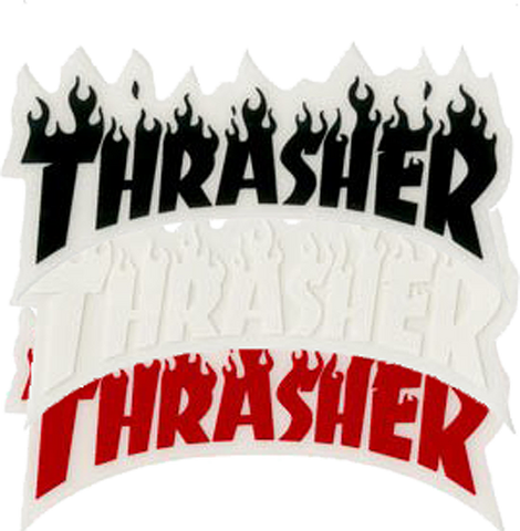 Thrasher Flame Logo Sm Decal Single Asst.Colors