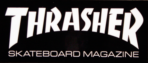 Thrasher Mag Logo Mini Decal Single Asst.Colors