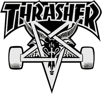 Thrasher Skategoat Board Lg Decal Single