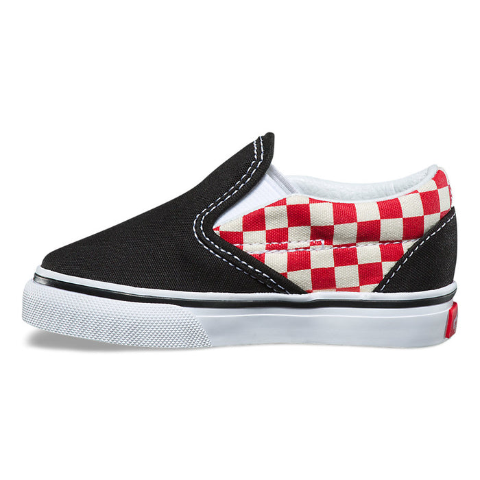 Vans Toddler Classic Slip-On - Checkerboard Black/Red