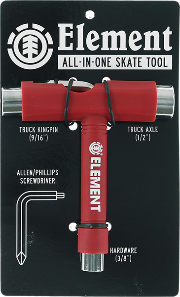 Element All In One Skate Tool Red