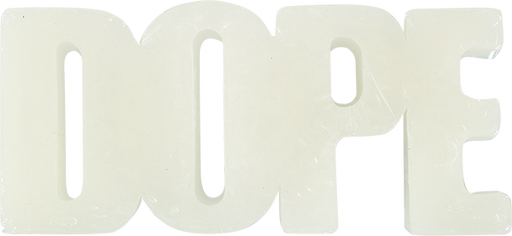Dope Wax Bar Word Logo Shape White