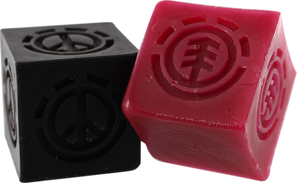 Element Peace Cubes 2/Pk Skate Wax Red & Blk