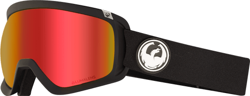 Dragon D3 OTG Goggles - Black with Red Ion + Rose (2020)