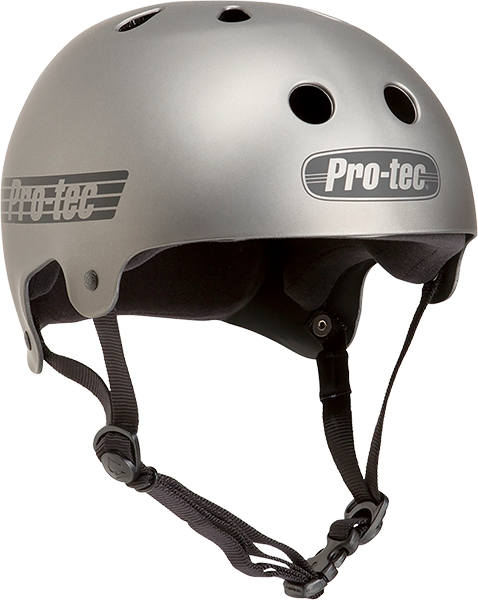 Protec Cl.Old School Matte Metallic Gun-L Helmet