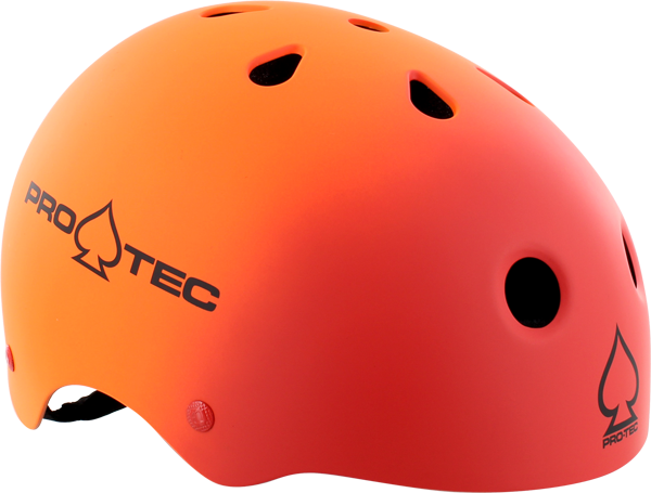 Protec (Cpsc)Classic Fade Red/Org-Xs Helmet