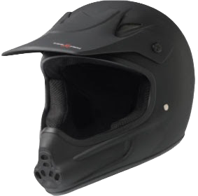 T8 Invader Full Face Helmet Xs/S-Black Cpsc/Atsm