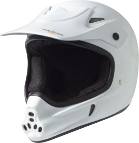 T8 Invader Full Face Helmet L/Xl-White Cpsc/Atsm