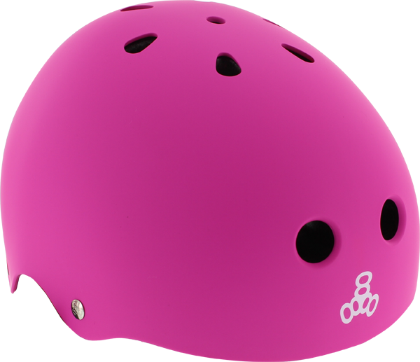 T8 Lil 8 Helmet Neon Pink Rubber Cpsc/Astm