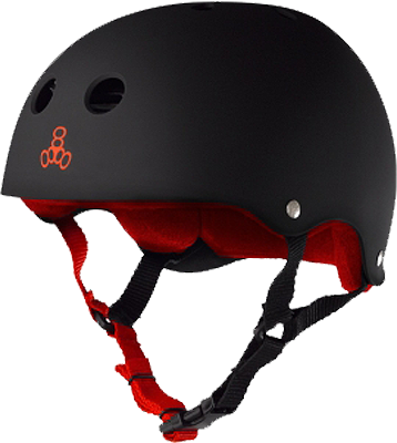 T8 Helmet Blk Rubber/Red L