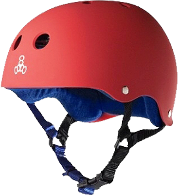 T8 Helmet Red Rubber/Blue Xl