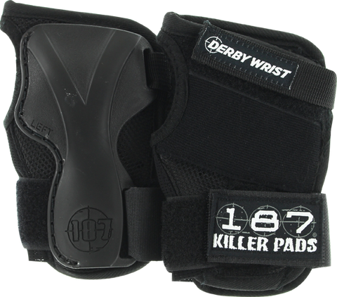 187 Derby Wrist Guard L-Black