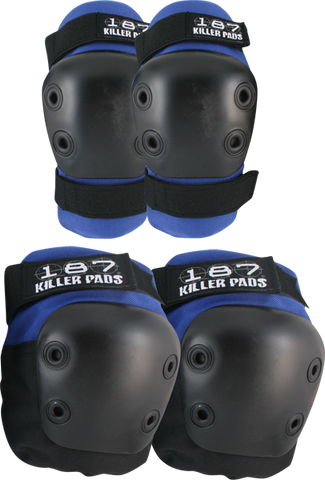 187 Combo Pack Knee/Elbow Pad Set Xs-Blue