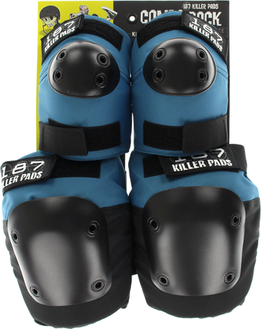 187 Combo Pack Knee/Elbow Pad Set S/M-Slate Blue