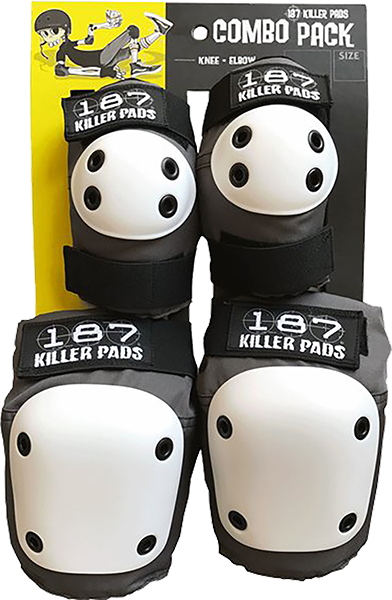 187 Combo Pack Knee/Elbow Pad Set S/M-Grey