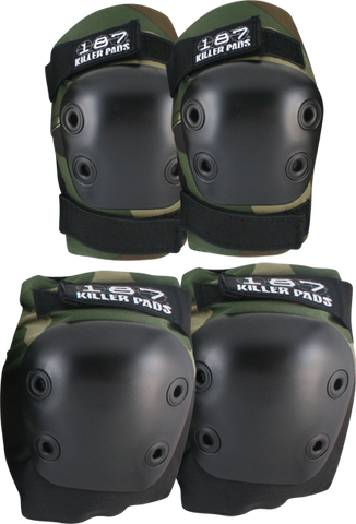 187 Combo Pack Knee/Elbow Pad Set S/M-Camo