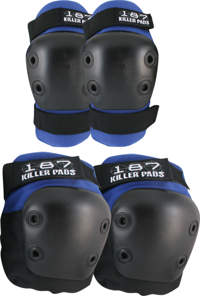 187 Combo Pack Knee/Elbow Pad Set L/Xl-Blue