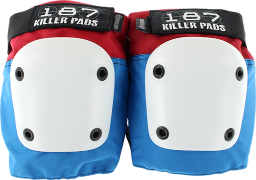 187 Fly Knee Pads L-Red/Wht/Blu W/Wht