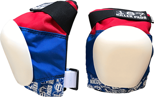 187 Pro Knee Pads Junior-Red/Wht/Blu