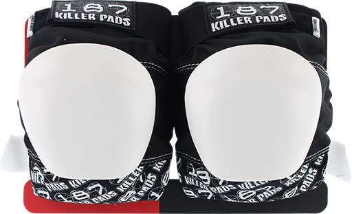 187 Pro Knee Pads Junior-Blk/Wht Text/Wht Cap