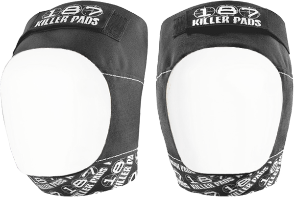 187 Pro Knee Pads Xl-Blk/Wht Text/Wht Cap