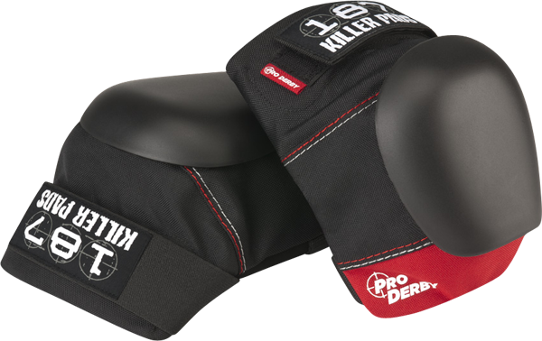 187 Pro Derby Knee Pads Xs-Blk/Red