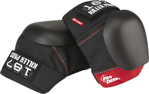 187 Pro Derby Knee Pads Xl-Blk/Red