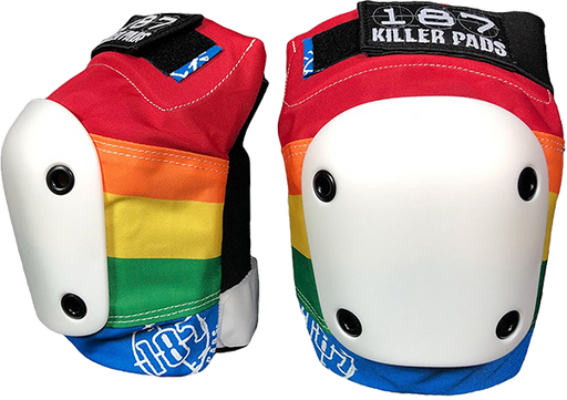 187 Slim Knee Pads L-Rainbow