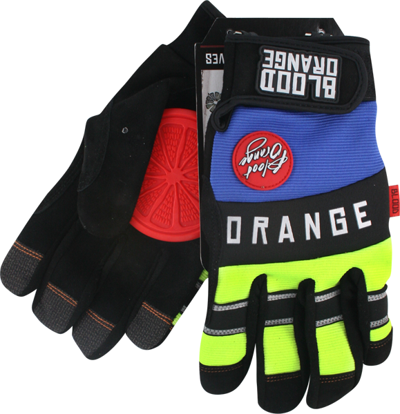 Blood Orange Knuckles Slide Gloves L/X-Bk/Blu/Neon