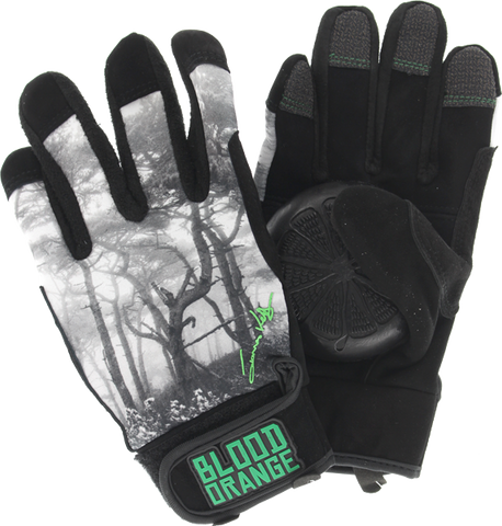 Blood Orange Kelly Slide Gloves S/M-Bk/Wt/Grey/Grn