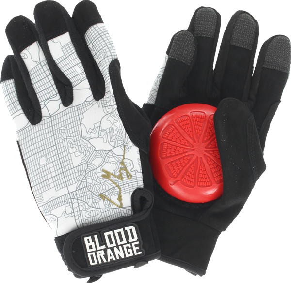 Blood Orange Morgan Slide Gloves S/M-Blk/Wht/Gold