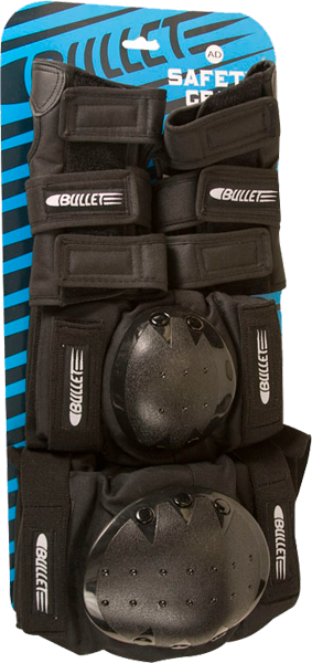 Bullet Adult-Sm Combo Knee/Elbow/Wrist Blk Ppp