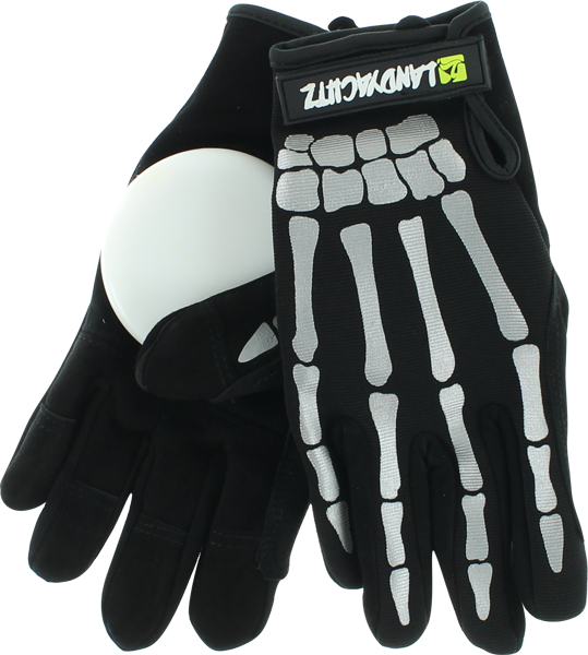 Landyachtz Bones Slide Gloves Xl-Blk/Wht