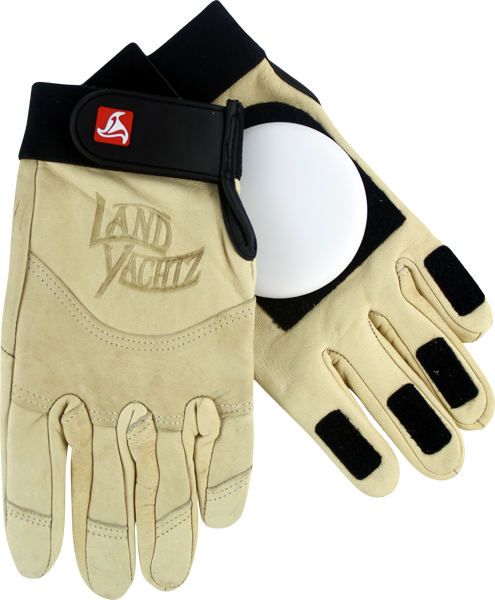 Landyachtz Leather Slide Gloves M-Khaki