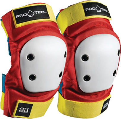 Protec Street Elbow L-Retro(Red/Blue/Yel)