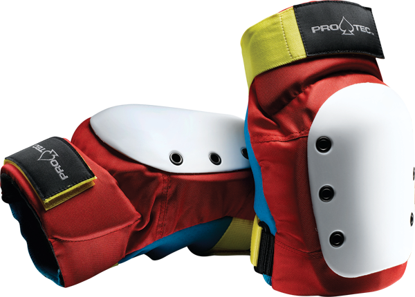 Protec Street Knee M-Retro(Red/Blue/Yel)