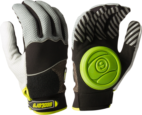 Sec9 Apex Slide Gloves L/Xl-Black(Grey/Blk/Lime)