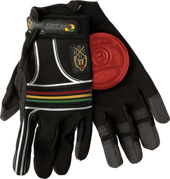 Sec9 Bhnc Slide Gloves S/M-Rasta