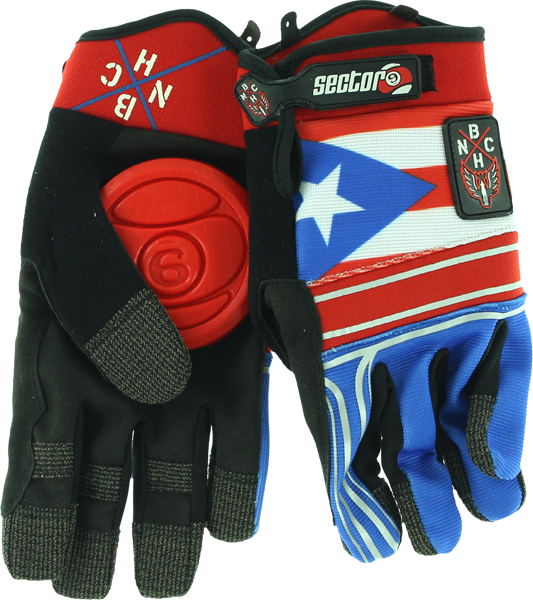 Sec9 Bhnc Slide Gloves L/Xl-Puerto Rico