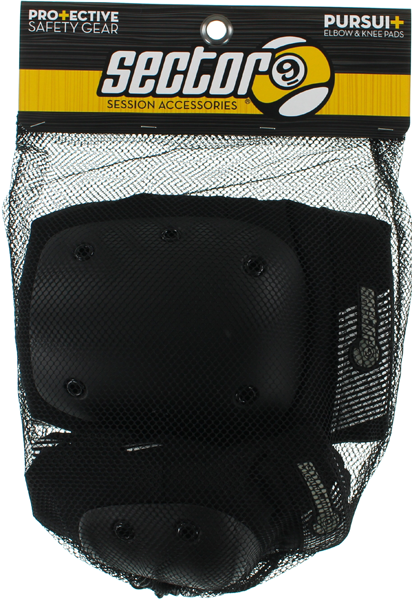 Sec9 Pursuit Pad Set S/M-Black Knee,Elbow