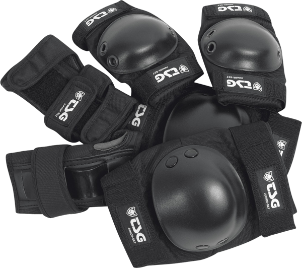 Tsg Junior Pad Set Xs-Black Knee,Elbow,Wrist