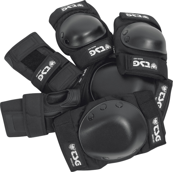 Tsg Basic Pad Set L-Black Knee,Elbow,Wrist
